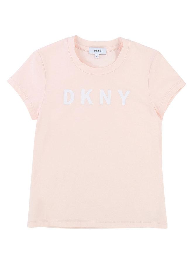 DKNY KIDS T-Shirt rosa mit Logo