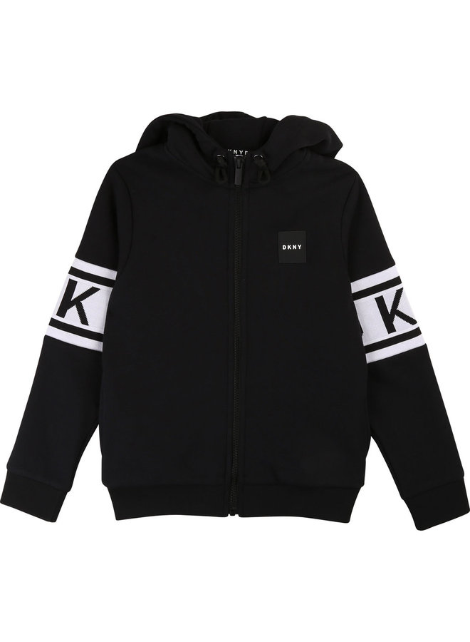 DKNY KIDS Sweatjacke schwarz Logo Hoodie