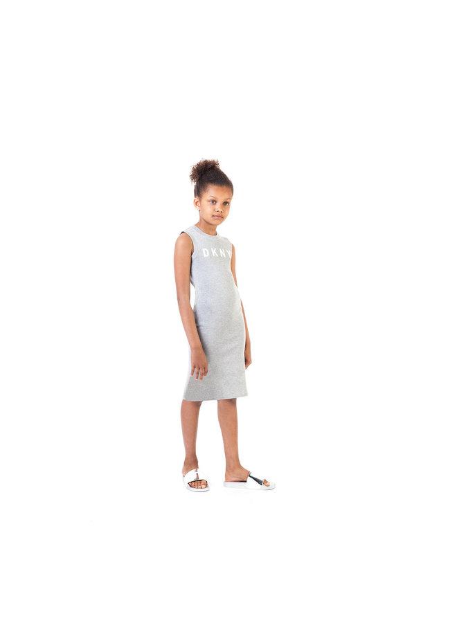 DKNY KIDS Strickkleid ärmellos grau