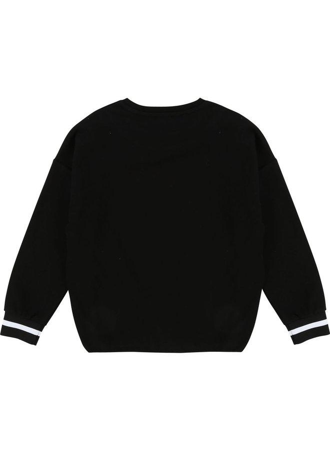DKNY KIDS Langarmshirt schwarz mit Text und Logo
