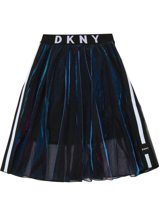 DKNY KIDS Rock irisierend mit Logo Bund