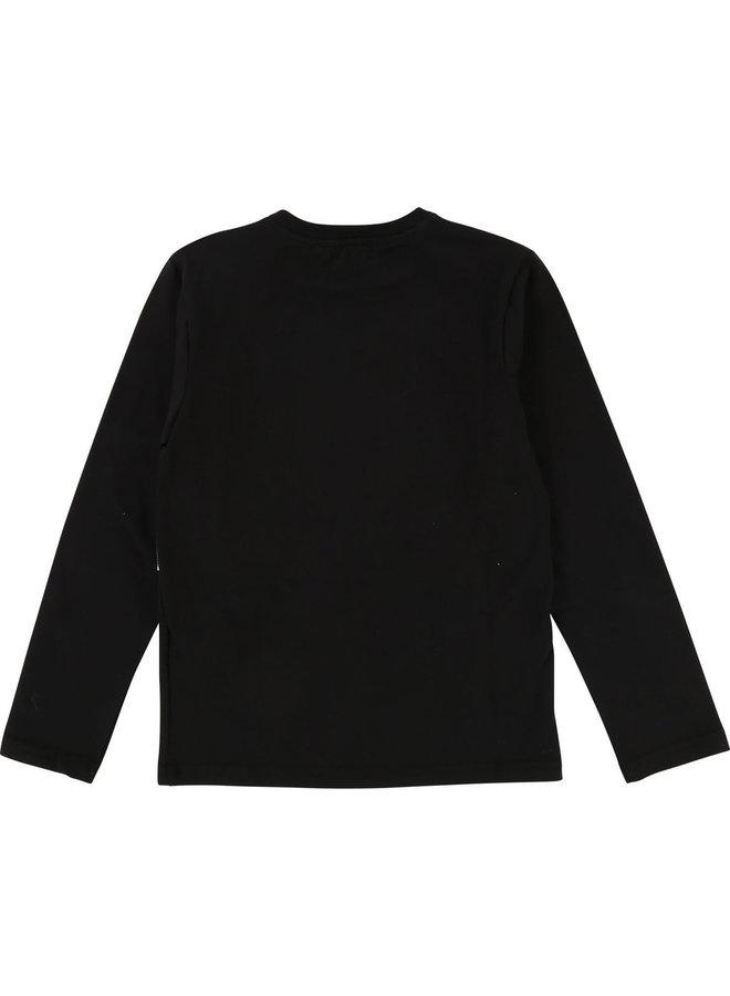 DKNY KIDS Langarmshirt schwarz mit Print