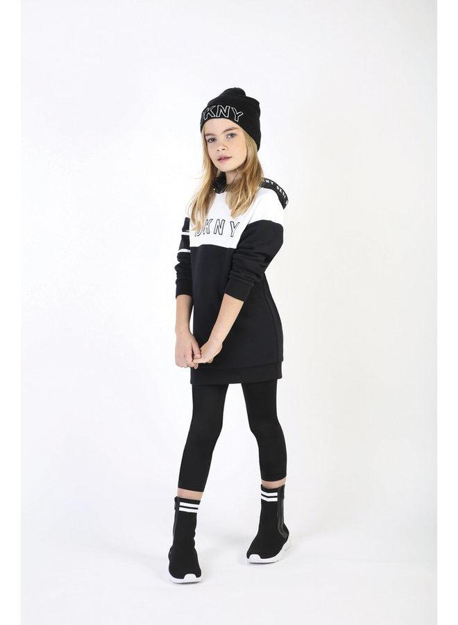 DKNY KIDS Sweatshirt-Kleid mit Kapuze