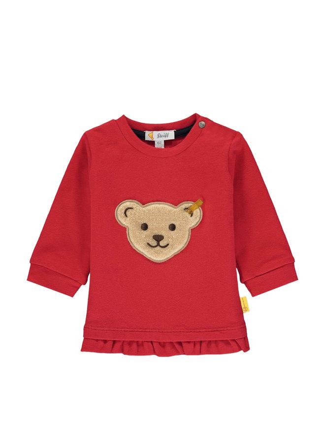 Steiff Baby Sweatshirt rot mit teddy-Applikation
