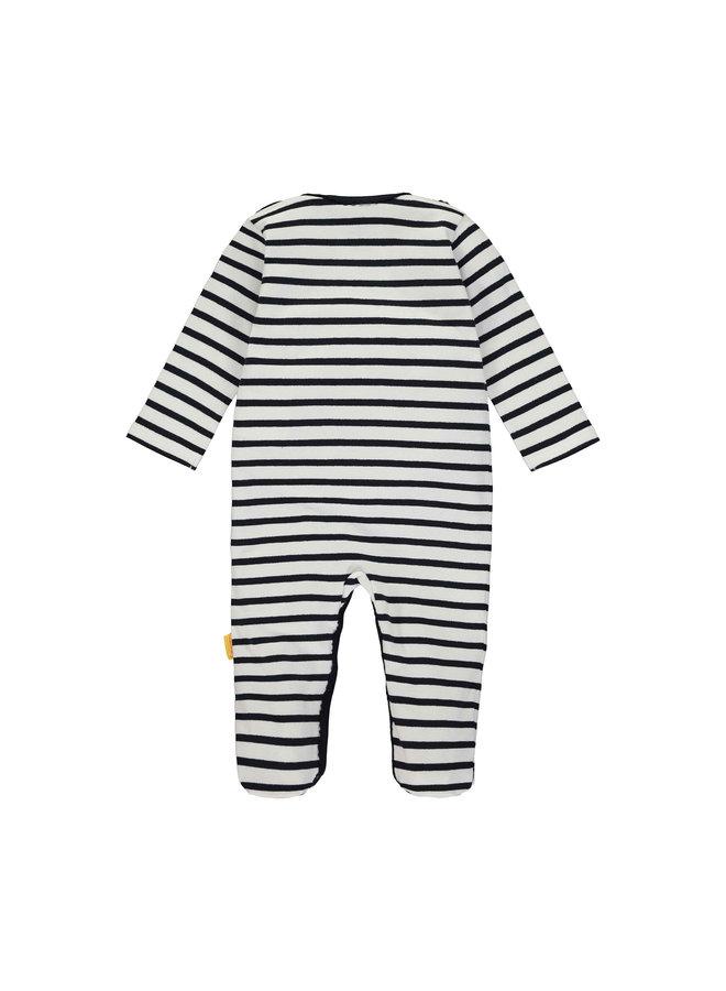 Steiff Baby Strampler dunkelblau mit Streifen