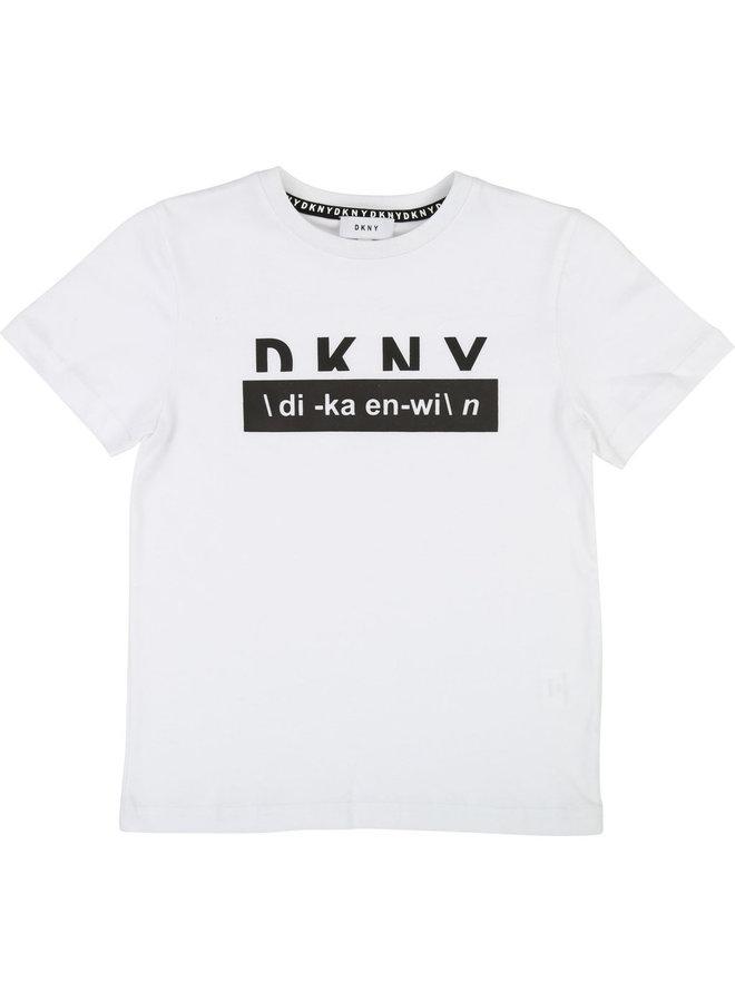 DKNY KIDS T-Shirt weiß di-ka-en-wi