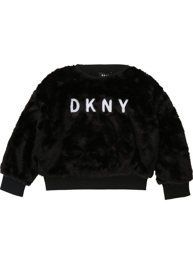 DKNY KIDS Kunstfell Sweatshirt