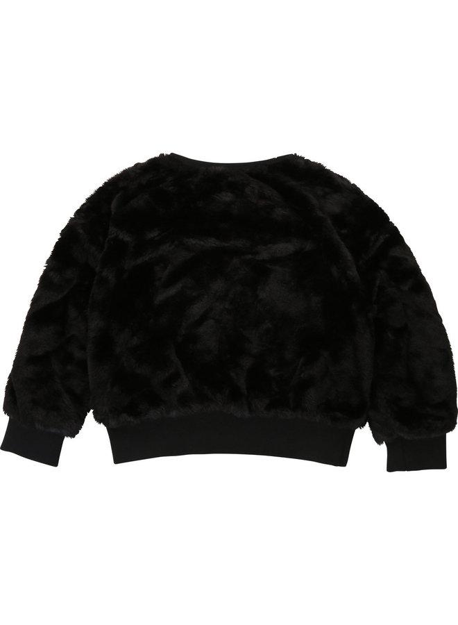 DKNY KIDS Kunstfell Sweatshirt mit Logo