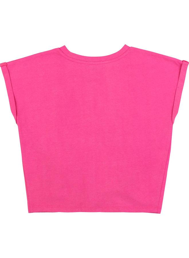 DKNY KIDS T-Shirt pink mit Print