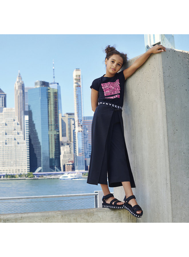 DKNY KIDS T-Shirt schwarz mit Text