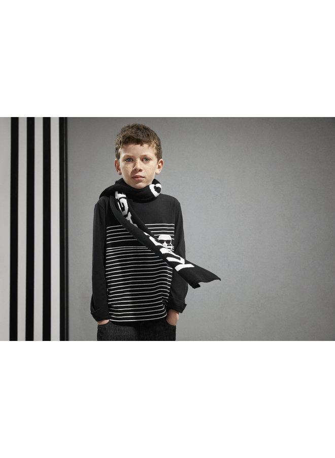 KARL LAGERFELD KIDS Longsleeve gestreift schwarz weiß