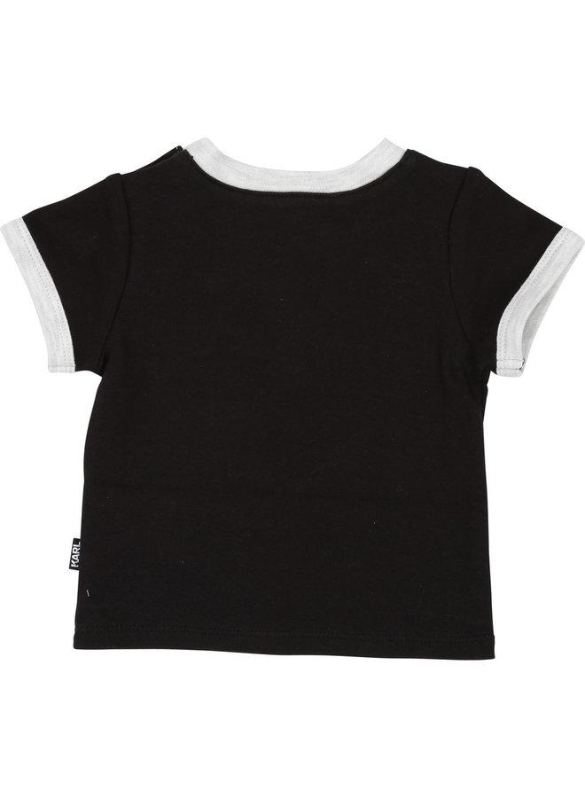 KARL LAGERFELD KIDS Baby T-Shirt Choupette schwarz