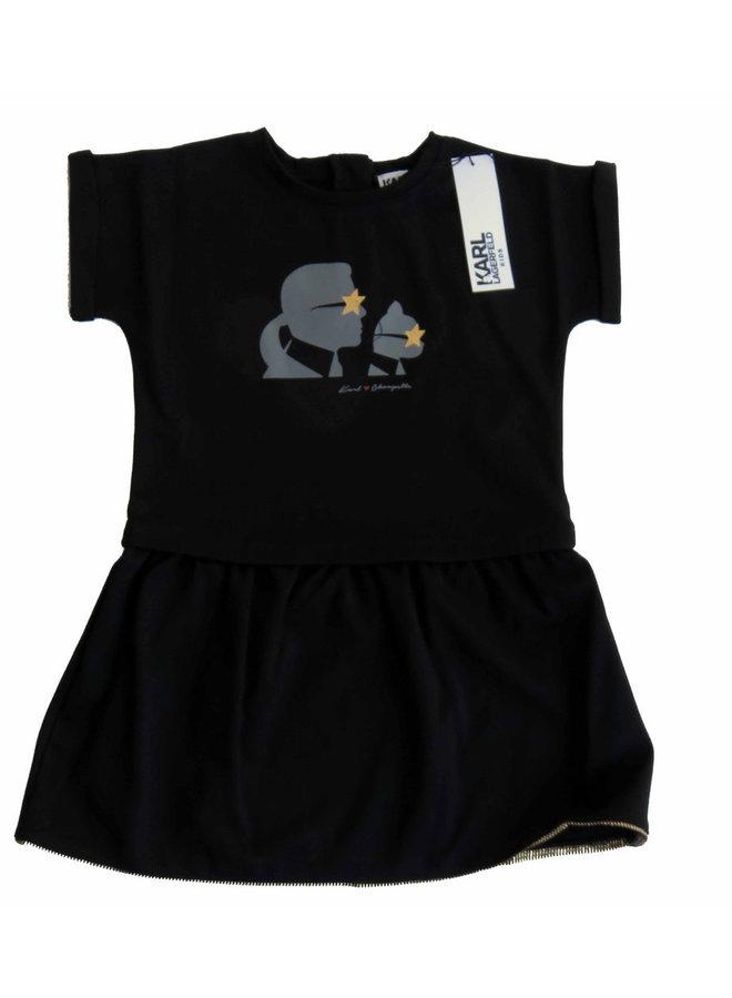 KARL LAGERFELD KIDS Kleid schwarz