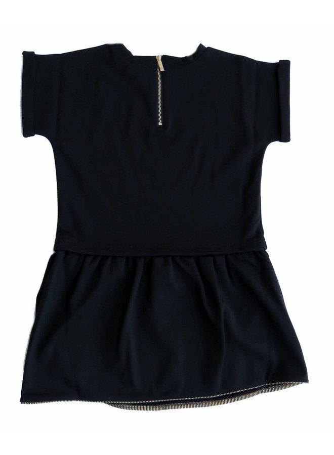 KARL LAGERFELD KIDS Kleid schwarz gold