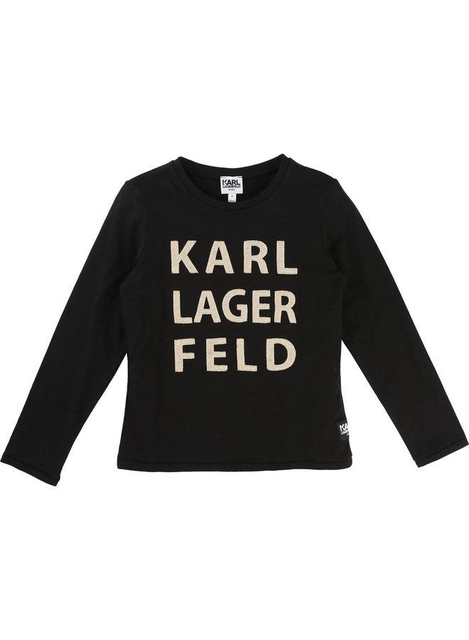 KARL LAGERFELD KIDS Langarmshirt schwarz gold