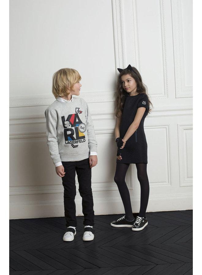 Karl Lagerfeld Kids fingerlose Handschuhe schwarz