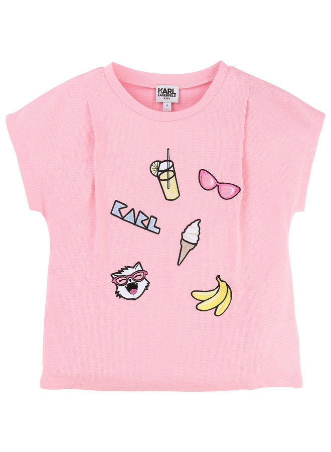 KARL LAGERFELD KIDS T-Shirt  mit Patches