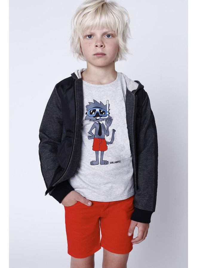 KARL LAGERFELD KIDS T-Shirt Taucher Katze