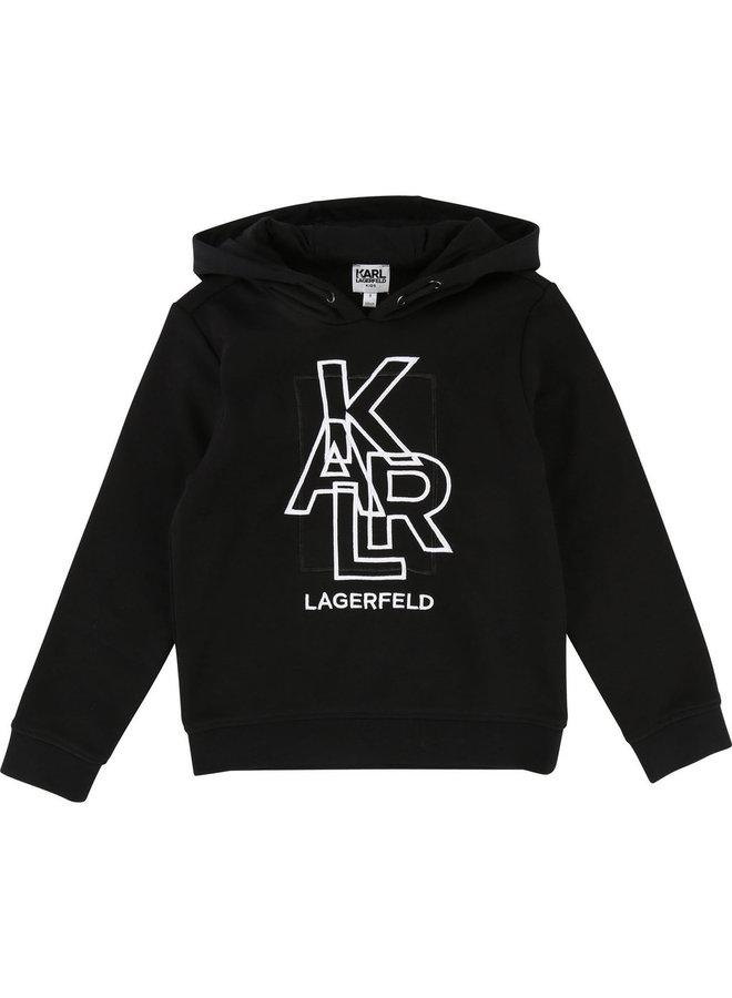 KARL LAGERFELD KIDS Hoodie schwarz