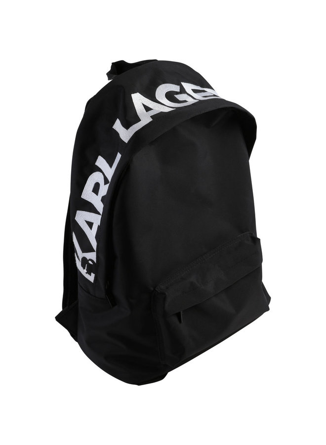 KARL LAGERFELD KIDS Rucksack mit Logo schwarz