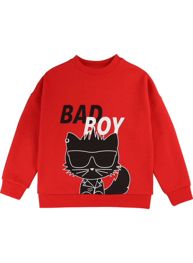 KARL LAGERFELD KIDS Sweatshirt Choupette bad boy rot