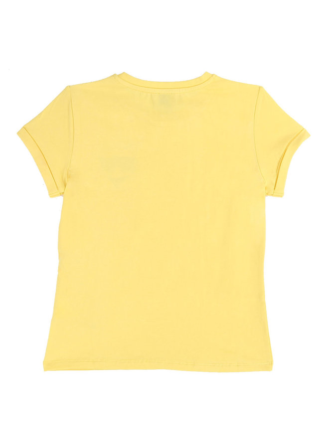 KARL LAGERFELD KIDS T-Shirt gelb Katze