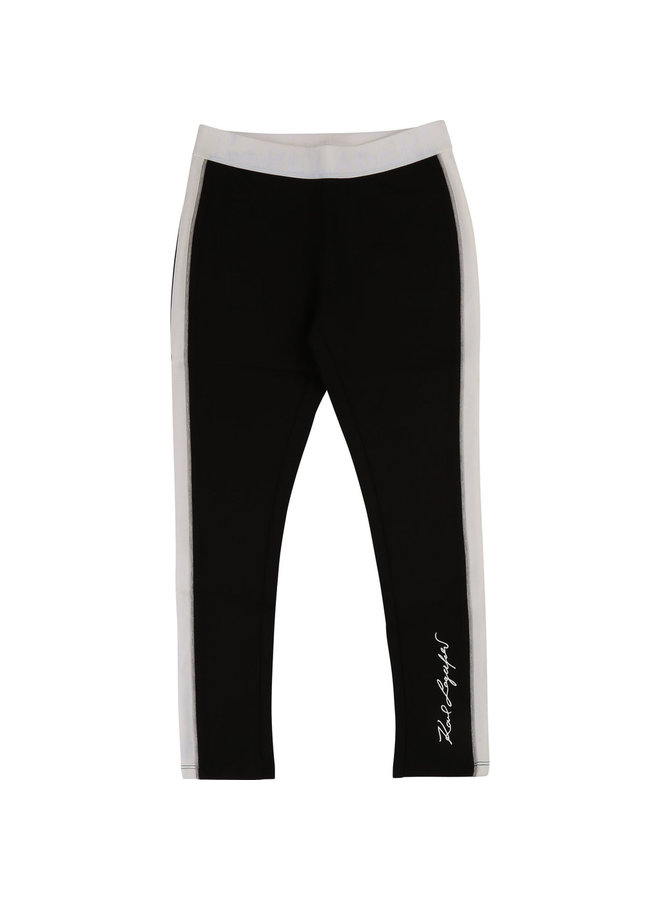 Karl Lagerfeld Kids Milano Leggings schwarz weiß
