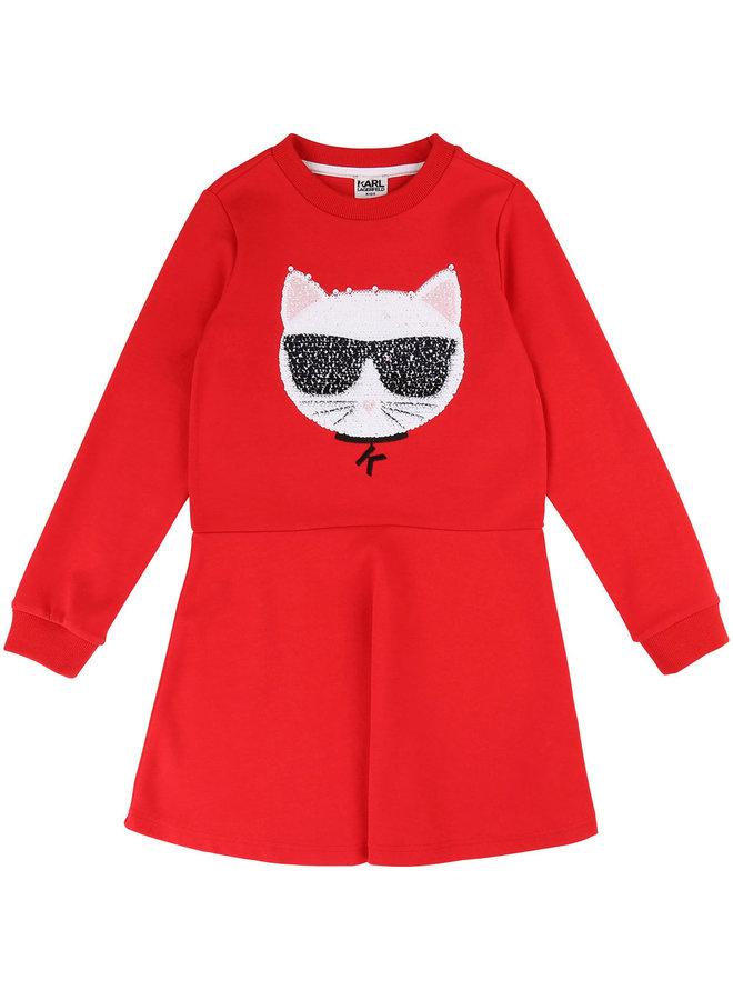 KARL LAGERFELD KIDS Sweatshirt Kleid mit Wendepailletten