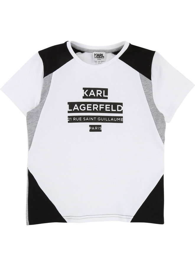 KARL LAGERFELD KIDS T-Shirt weiß grau
