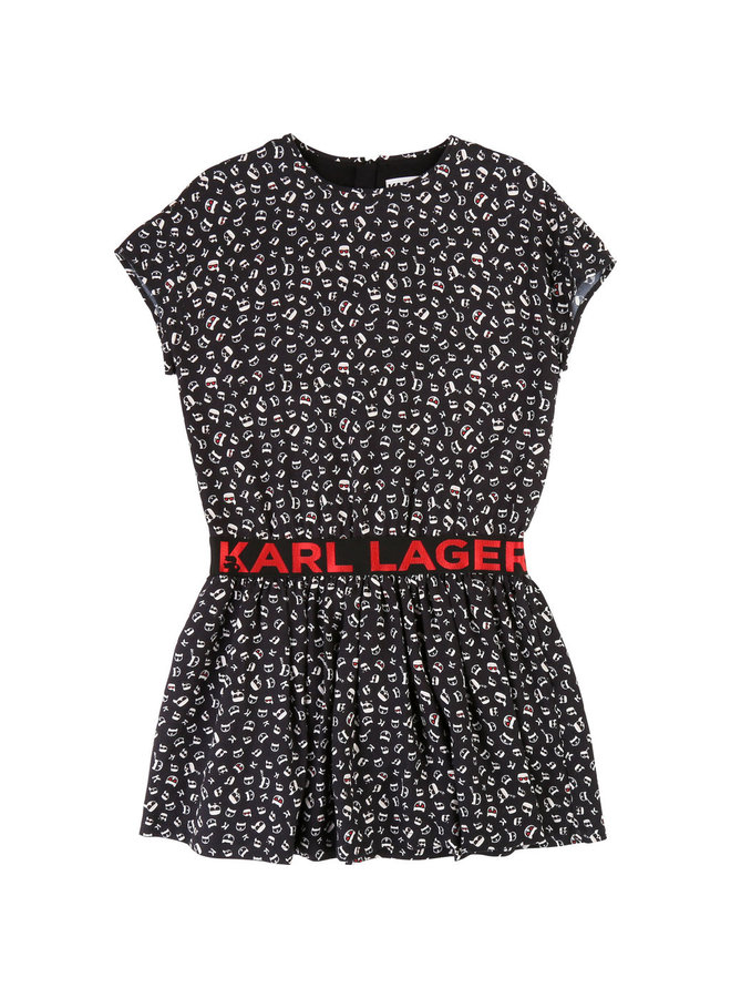 KARL LAGERFELD KIDS Kleid Allover Print ikonik