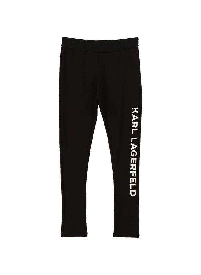 Karl Lagerfeld Kids Leggings schwarz weiß