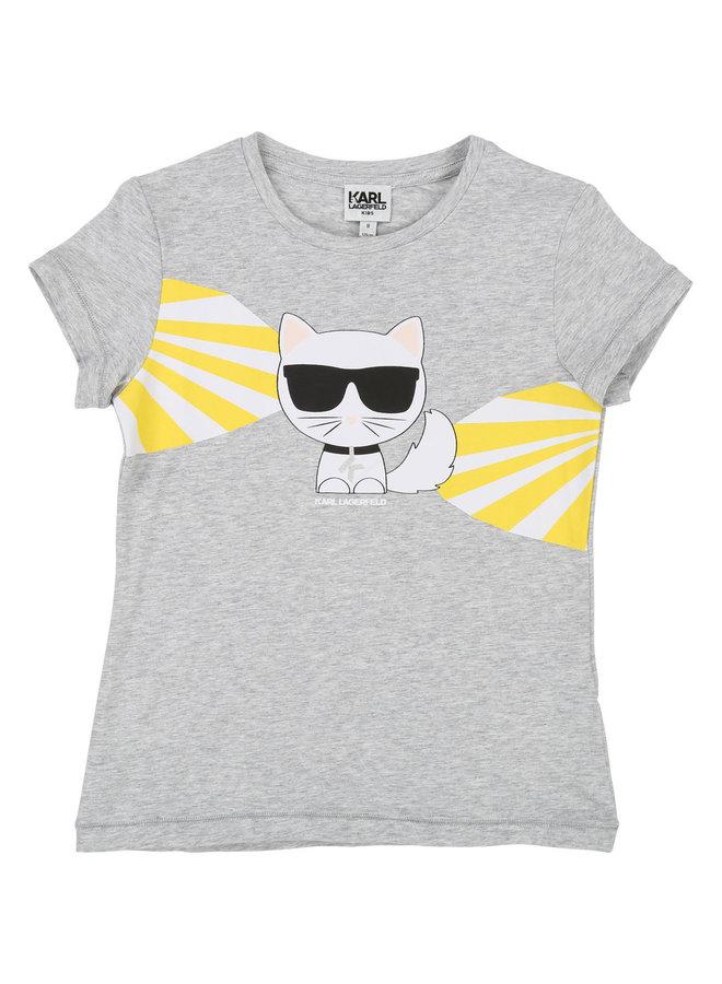 KARL LAGERFELD KIDS T-Shirt grau Katze