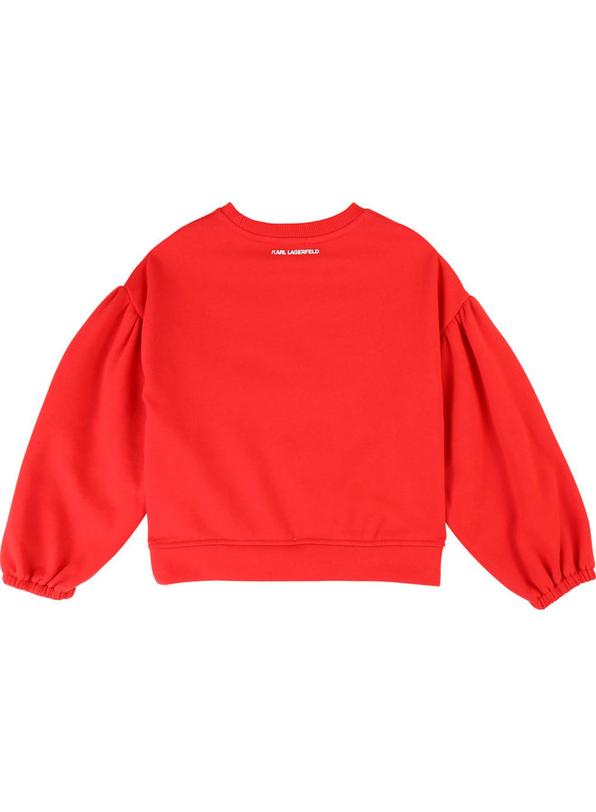 KARL LAGERFELD KIDS Sweatshirt Choupette rot weiß
