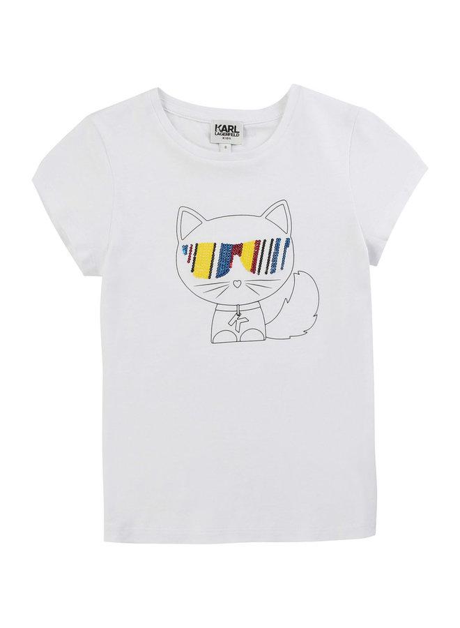 KARL LAGERFELD KIDS T-Shirt weiß multico