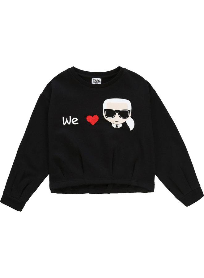 KARL LAGERFELD KIDS Sweatshirt schwarz
