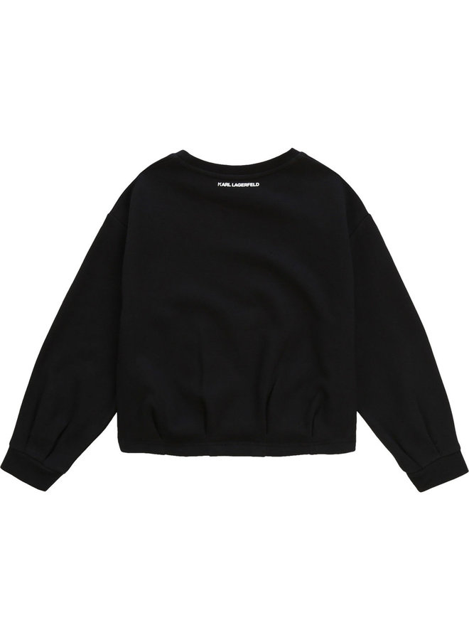 KARL LAGERFELD KIDS Sweatshirt schwarz we love Karl
