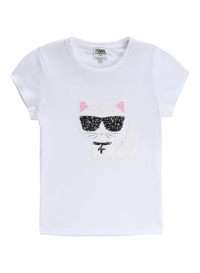 KARL LAGERFELD KIDS T-Shirt Wendepailletten