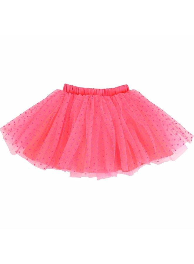Billieblush Tüllrock pink Punkte