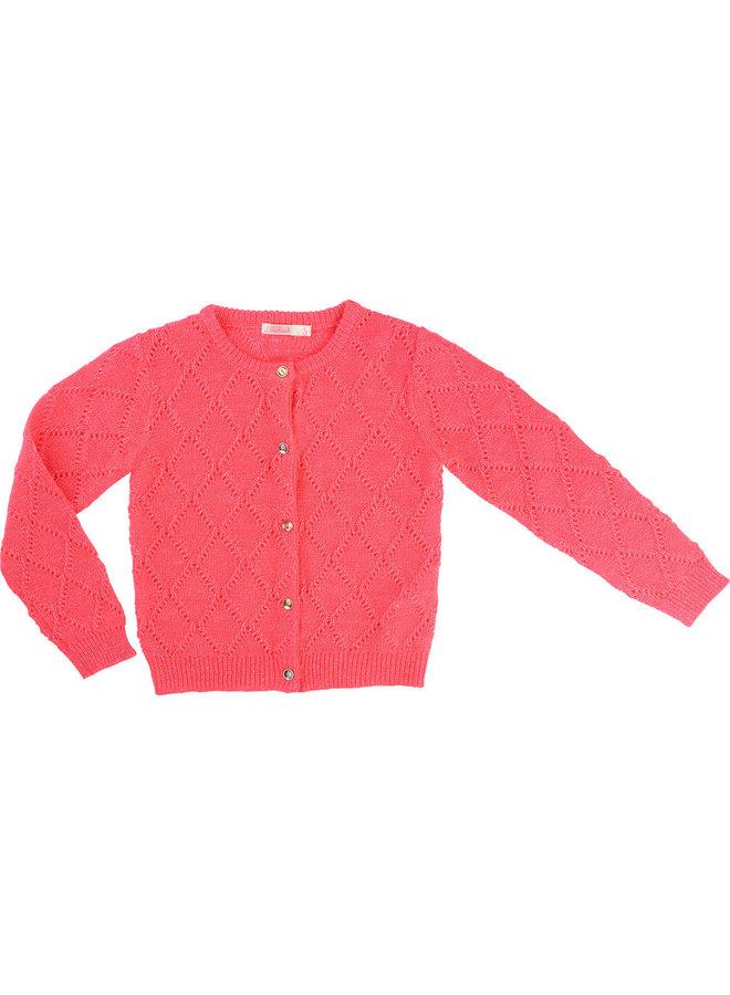 Billieblush Strickjacke pink Lochmuster