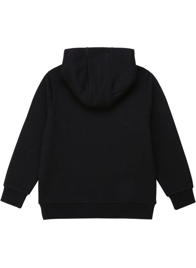 HUGO BOSS Kids Hoodie Kapuzensweatshirt schwarz