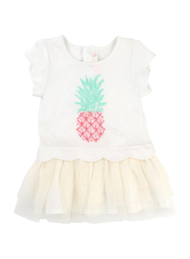 Billieblush Baby Kleid Ananas offwhite