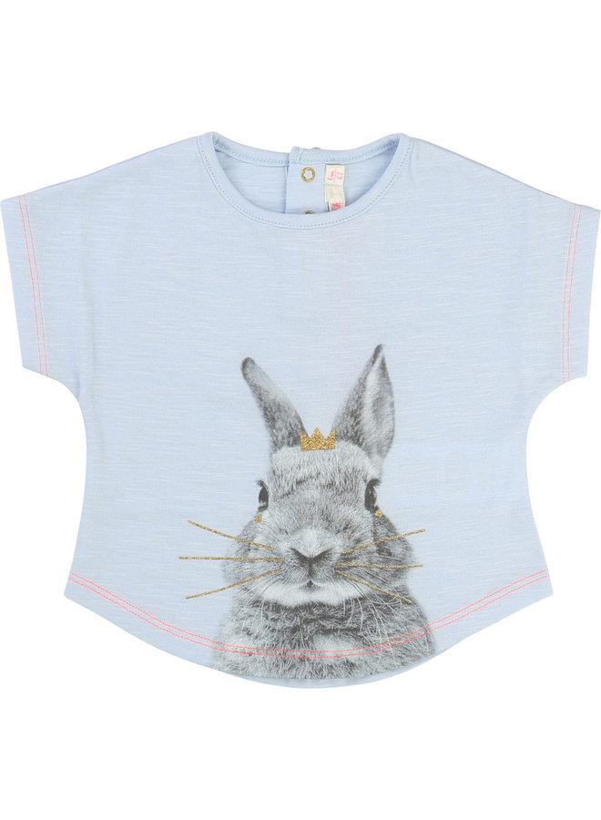 Billieblush T-Shirt Hase mit Krone hellblau