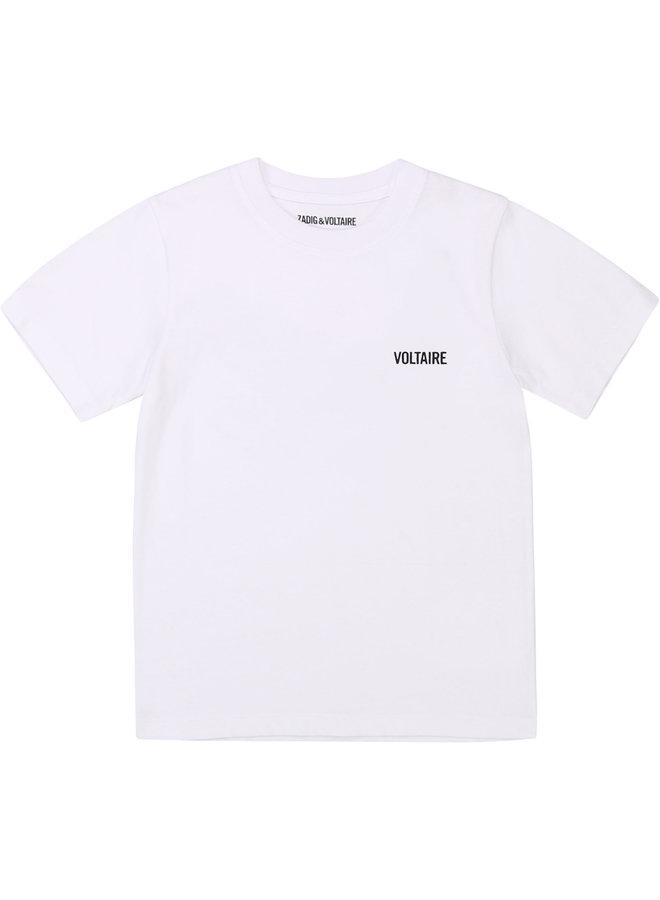 Zadig & Voltaire T-Shirt mit großem Rückenprint und Logo