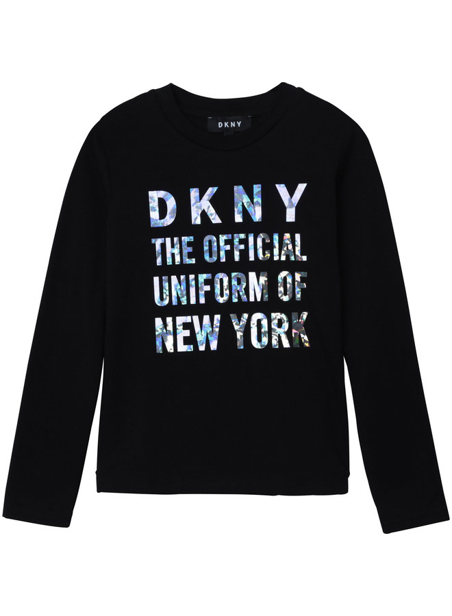 DKNY KIDS Langarmshirt schwarz