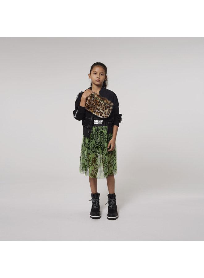 DKNY KIDS Mesh Rock mittellang fluo grün