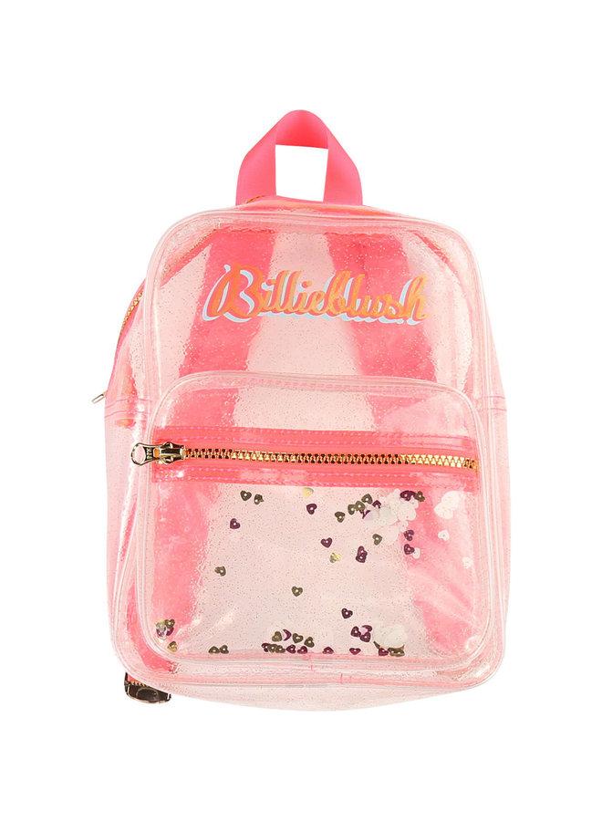 Billieblush Rucksack transparent neon pink