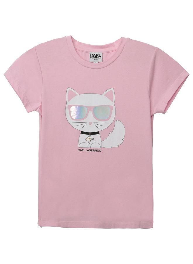 KARL LAGERFELD KIDS T-Shirt rosa iconic Chaupette