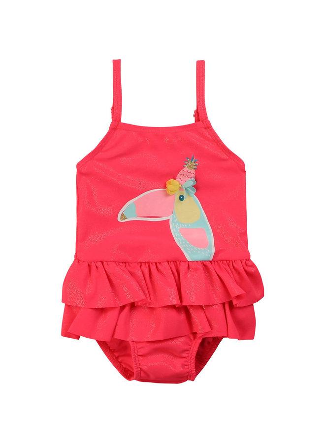 Billieblush Badeanzug rosa Tukan