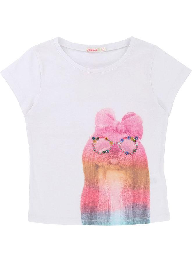 Billieblush T-Shirt Hund mit Brille