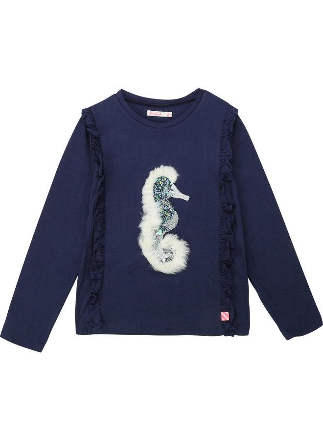 Billieblush Longsleeve Seepferdchen blau